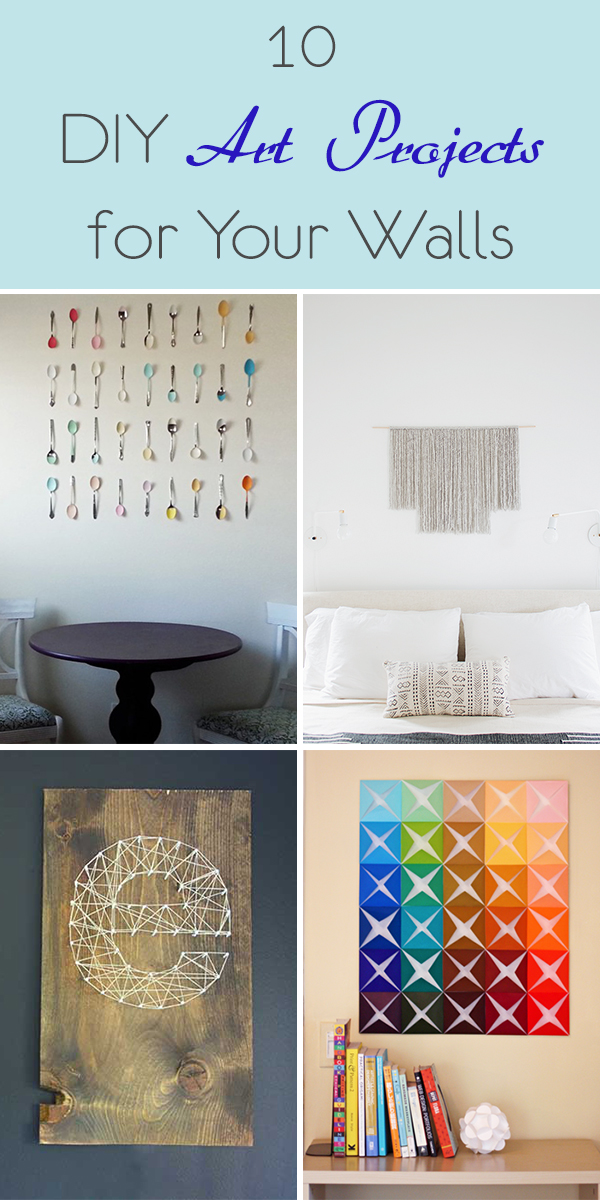10 Easy DIY Art Projects for Your Walls