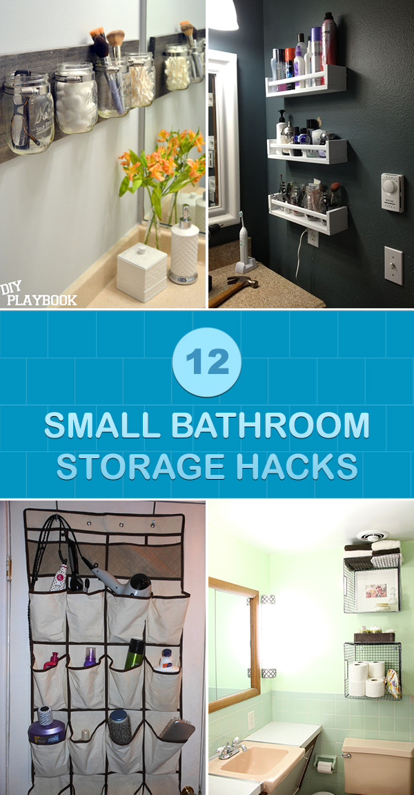 12 Small Bathroom Storage Hacks