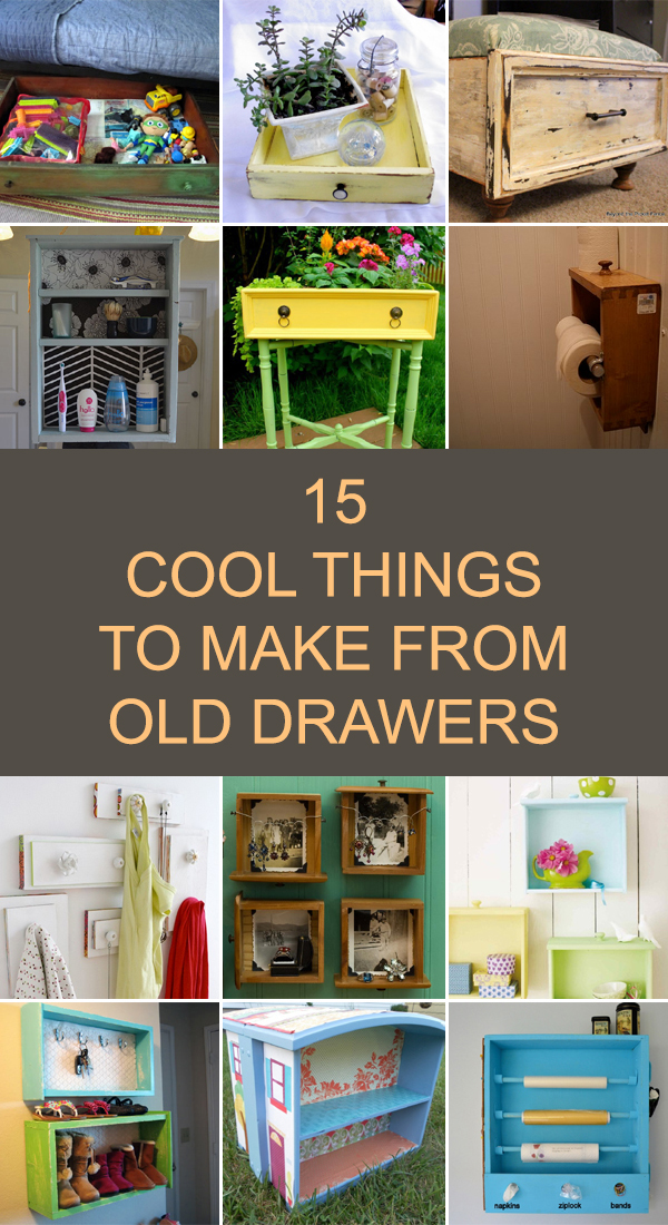 15 Cool Things to Make From Old Drawers