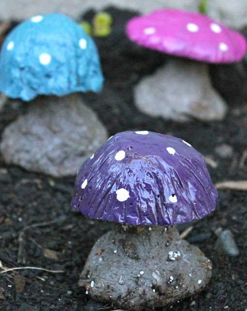 Add splashes of bright colors to any part of the garden with these tiny and fun mushrooms