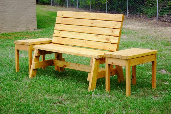 Bench And Side Table