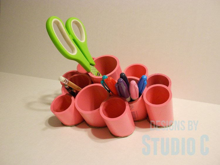 Desk Organizing Cups with PVC