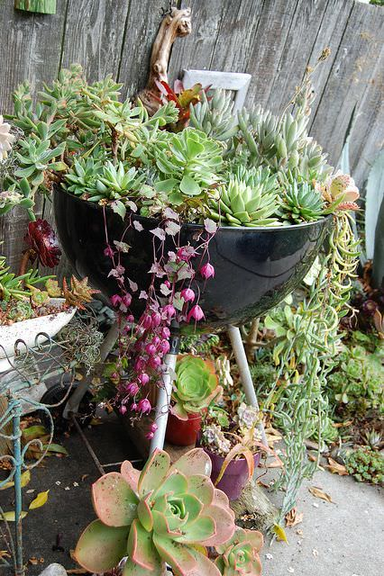 Old Grill Planter
