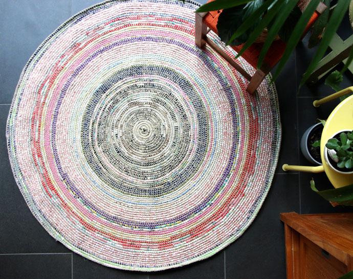 Scrap Fabric Rug