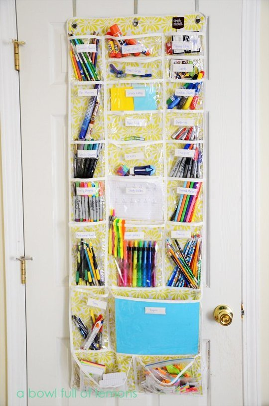 Utilize The Space Behind The Door. A Shoe Organizer ...