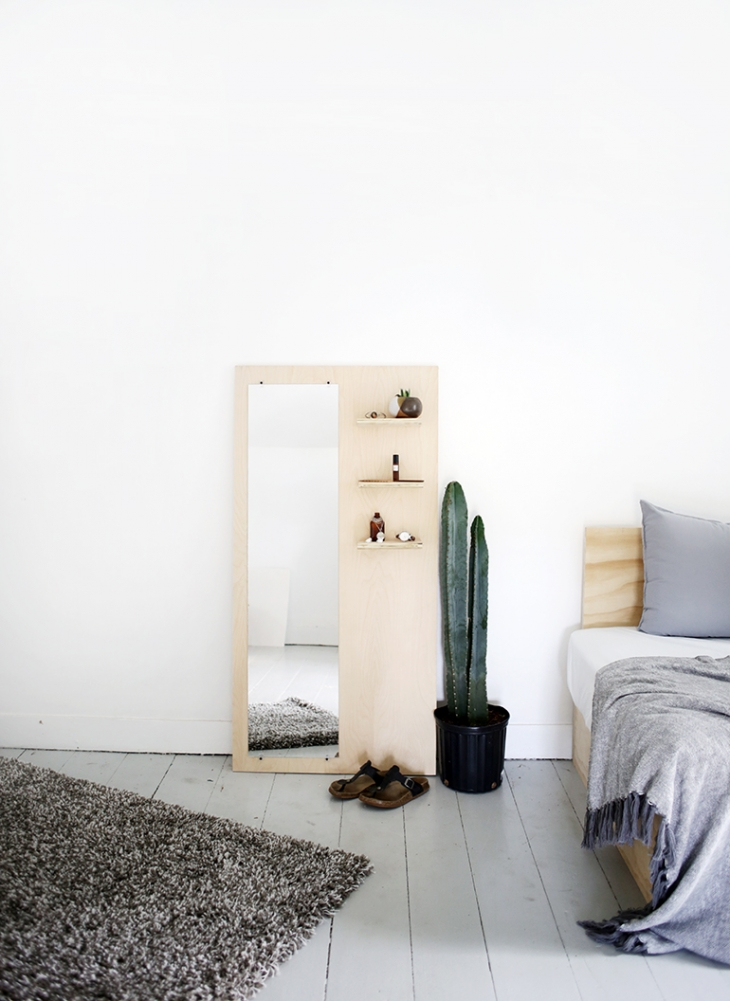 Plywood Floor Mirror