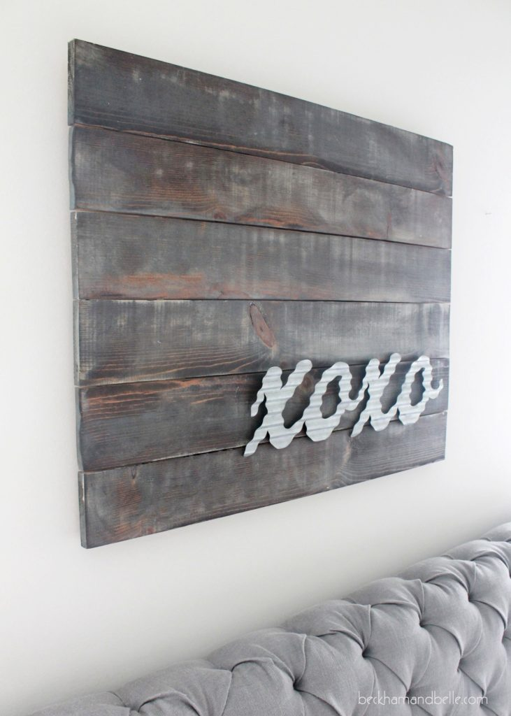 XOXO Distressed Wooden Art