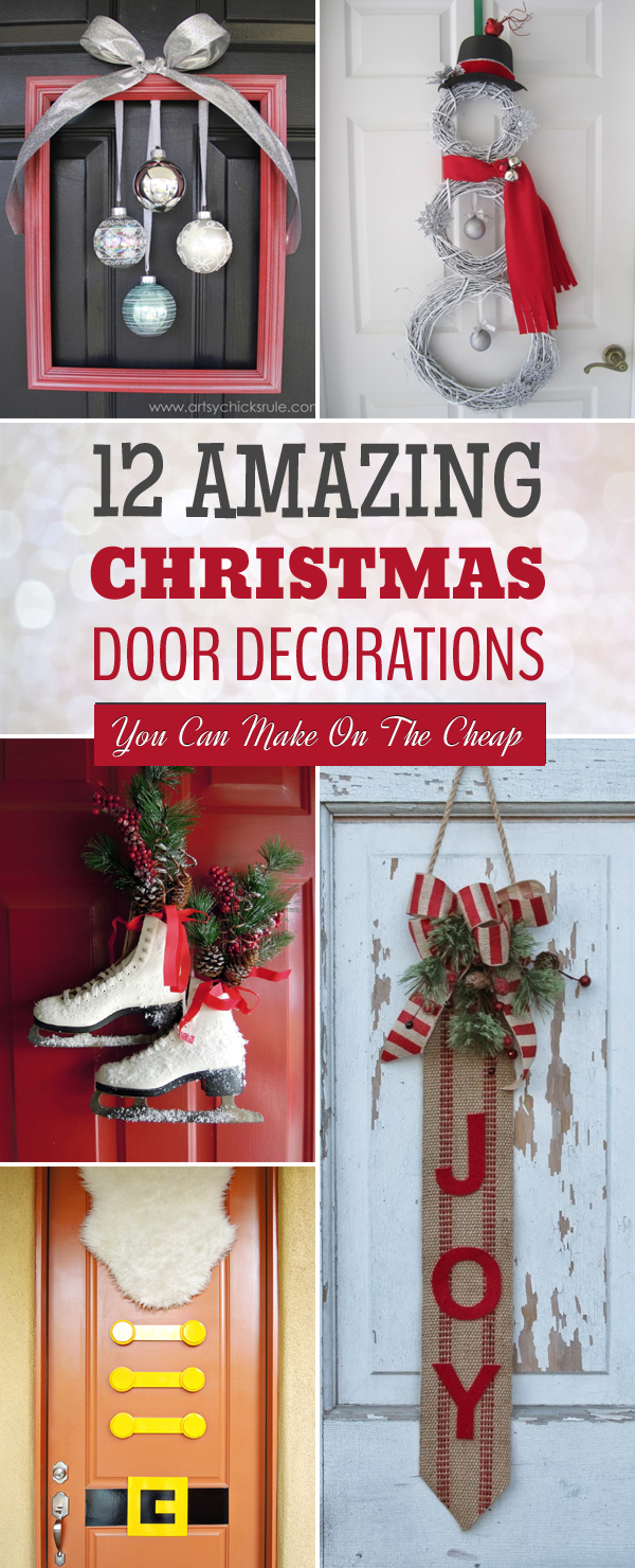 12 Amazing Christmas Door Decorations You Can Make On The Cheap