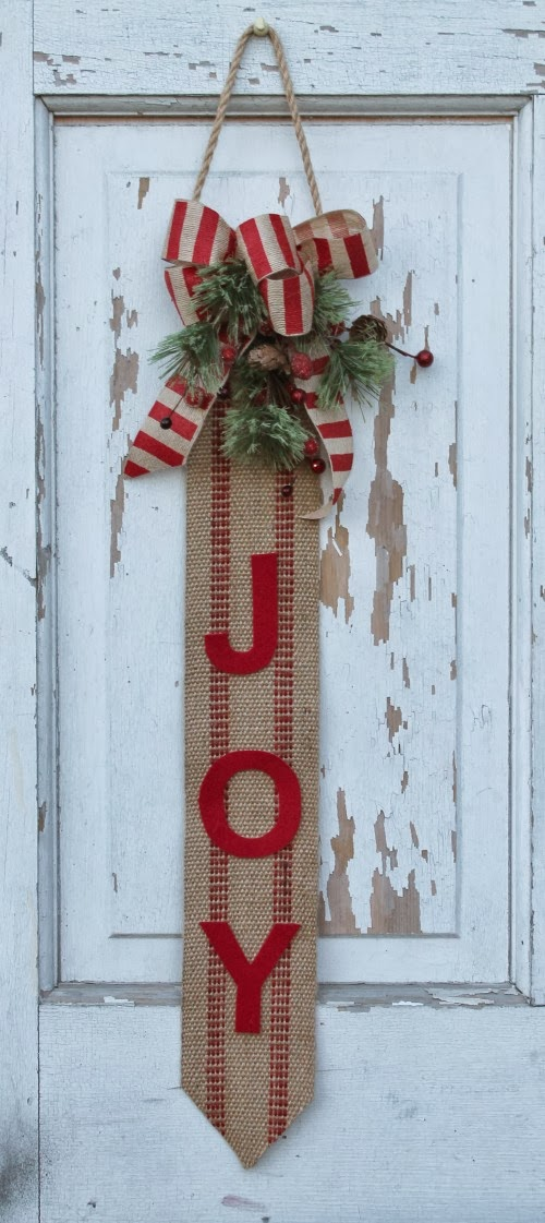 Burlap Front Door Decoration