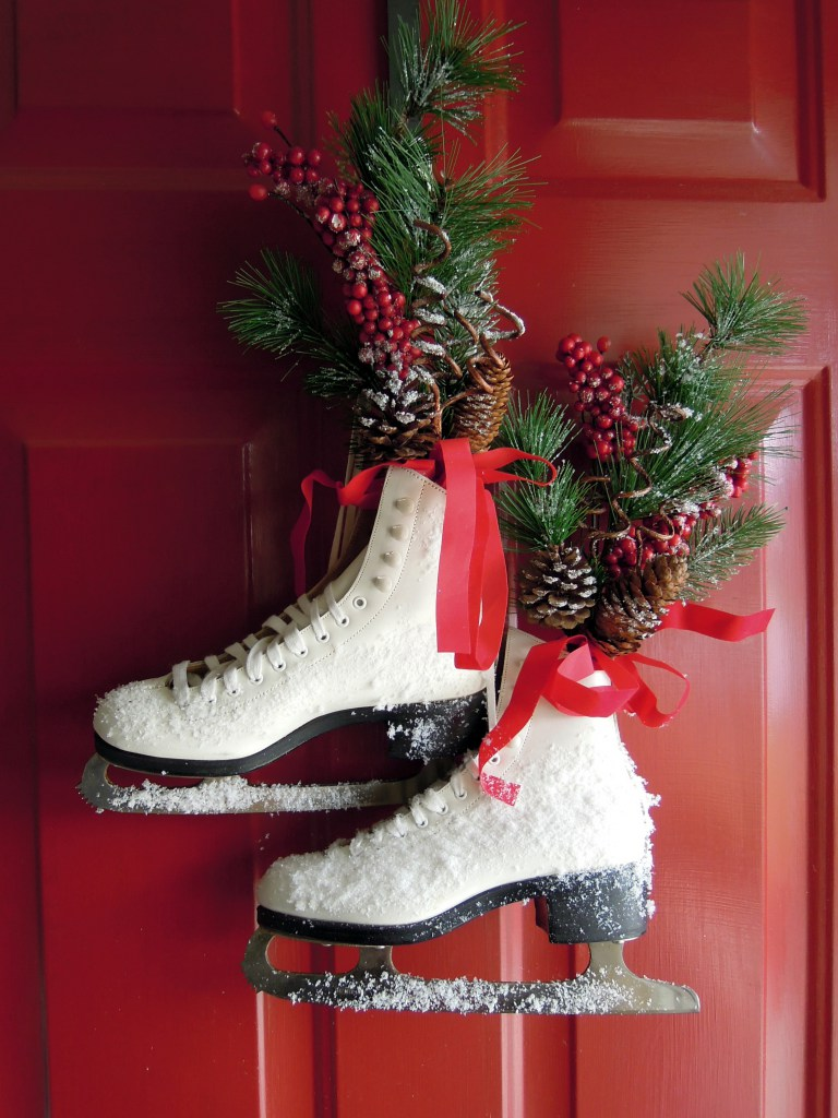 Ice Skates Door Hanging