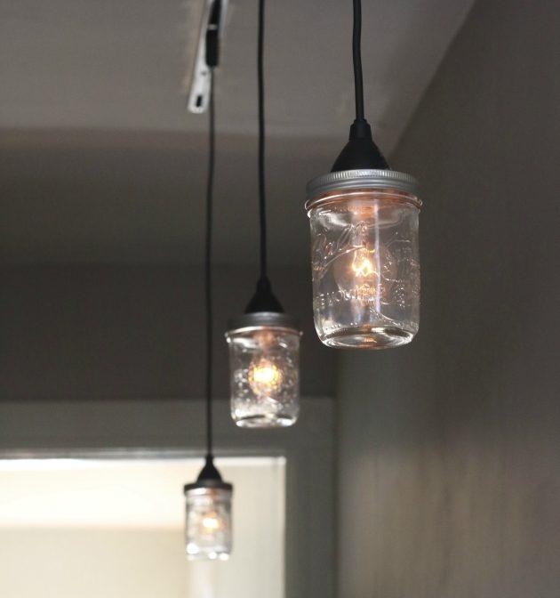 Handcrafted 14 Mason Jar Pendant Light Chandelier W Rustic: 15 Best Ways To Use Mason Jars Around Your Home