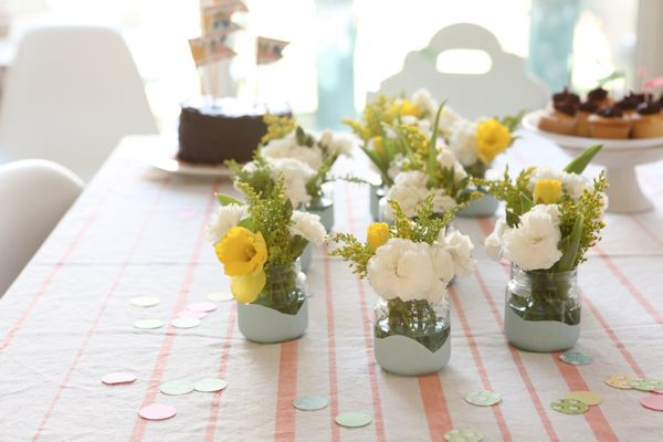 Painted Baby Food Jars Vases