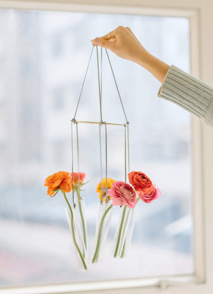 Test Tube Vase Chandelier