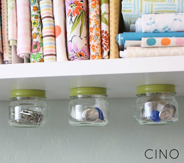 Under the Shelf Jar Storage