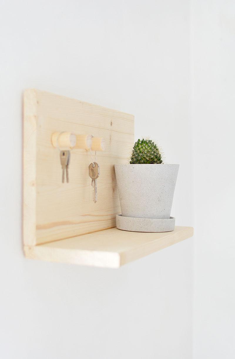 Welcome Home Key Shelf