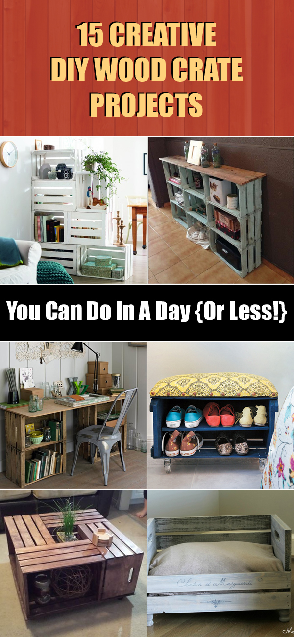 15 Creative DIY Wood Crate Projects You Can Do In A Day {Or Less!}