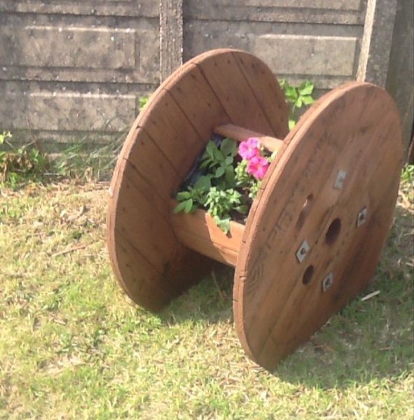 Cable Spool Planter