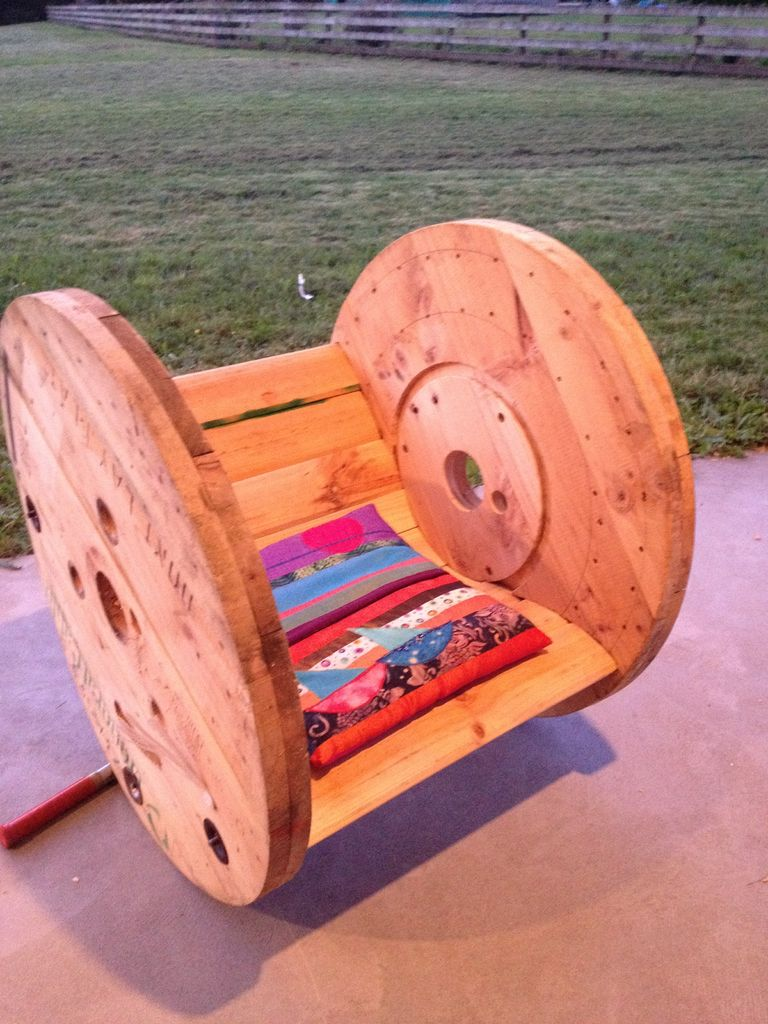 Cable Spool Rocking Chair