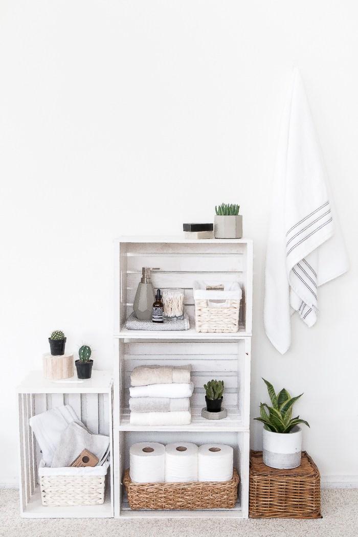 Crate Shelves Bathroom Organizer