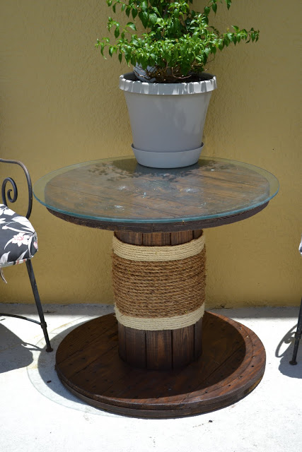Patio Cable Spool Table
