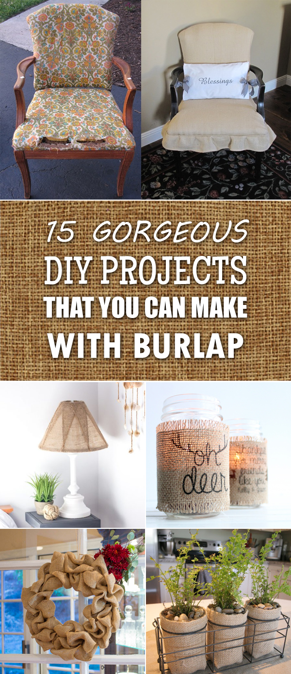 15 Gorgeous DIY projects That You Can Make with Burlap