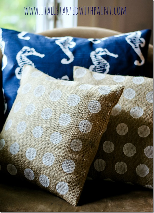 Burlap Pillows