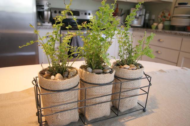 Burlap Planters