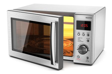 Running empty microwave oven