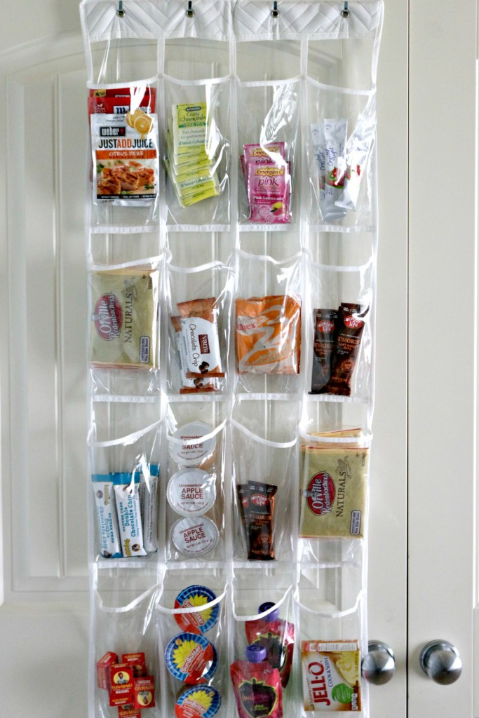 Use Over The Door Shoe Storage To Organize Snacks In Pantry. (Via Money  Saving Queen)