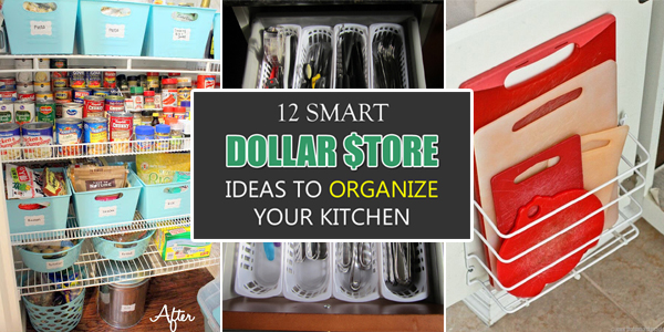 12 Smart Dollar Store Ideas To Organize Your Kitchen