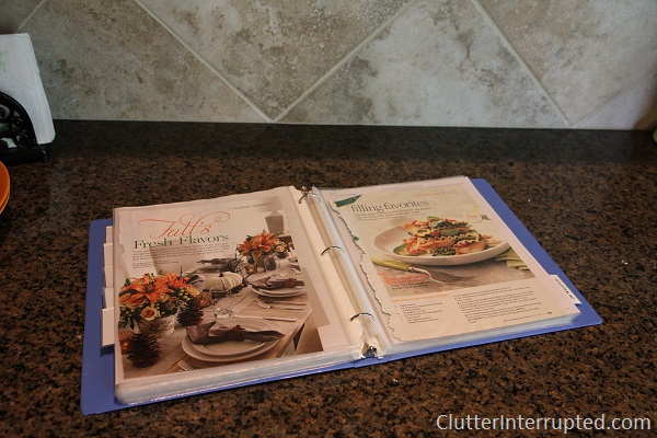 Keep your favorite recipes in a binder
