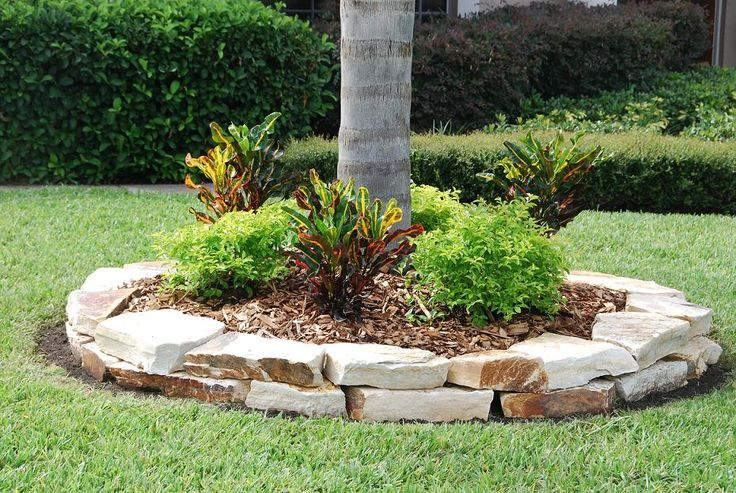 12 amazing ideas for flower beds around trees - Tips using rock landscaping ...