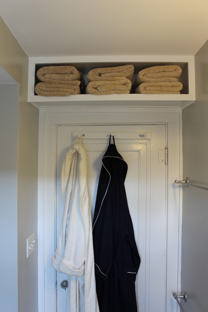 Above-the-Door Bathroom Storage Shelf