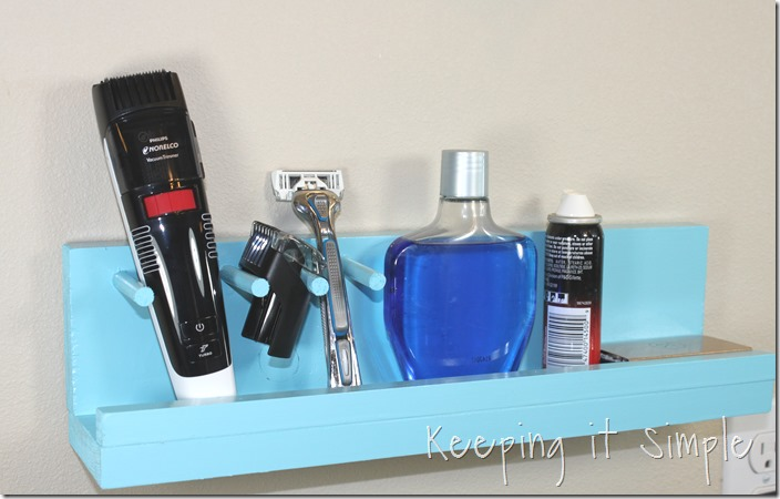 Bathroom Shelf for Beard Trimmer and Razor