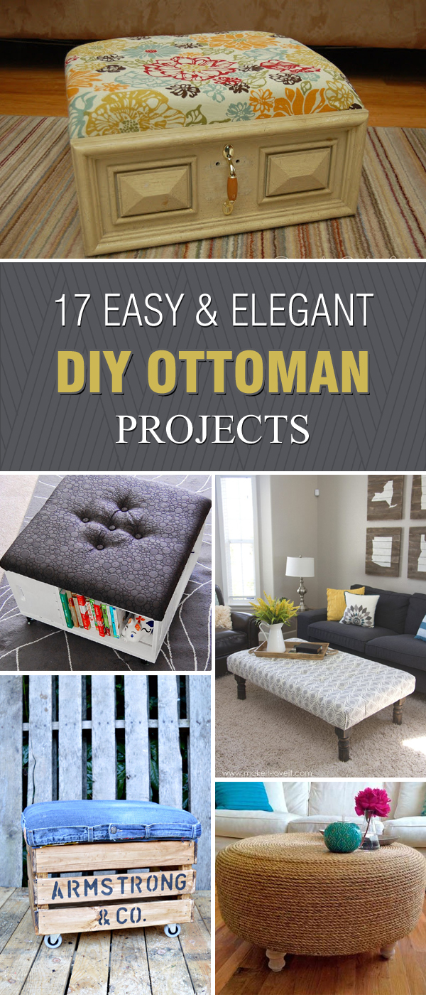 17 Easy and Elegant DIY Ottoman Projects