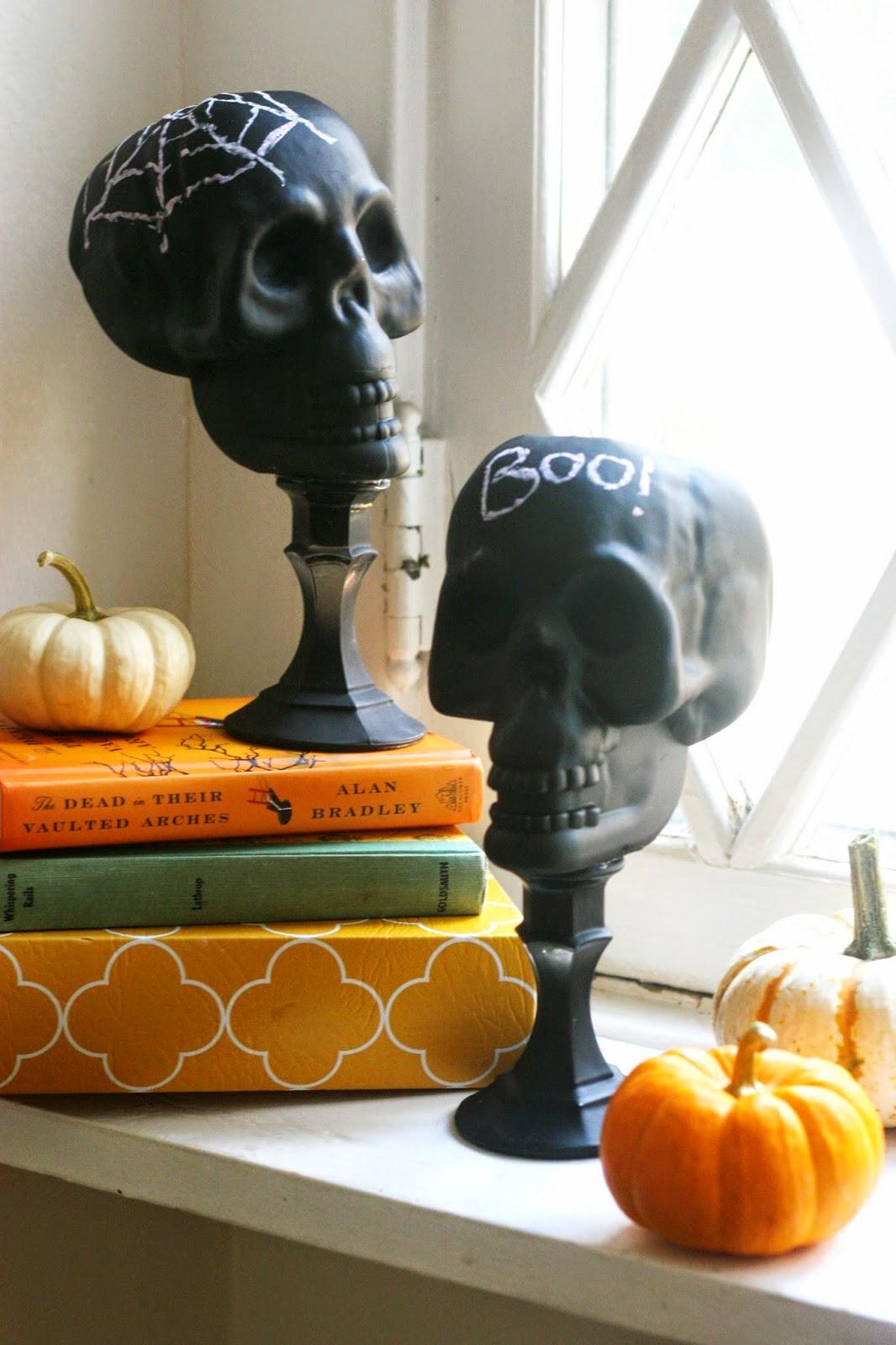 Chalkboard Skulls