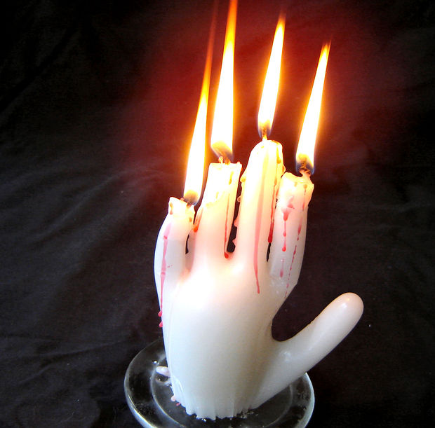 Creepy Hand Candle