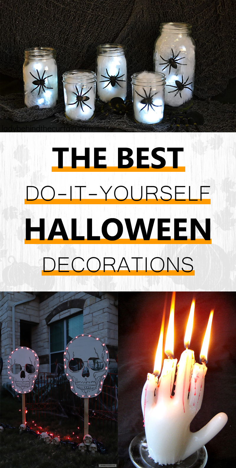 A collection of the best Halloween decorations that you can do yourself