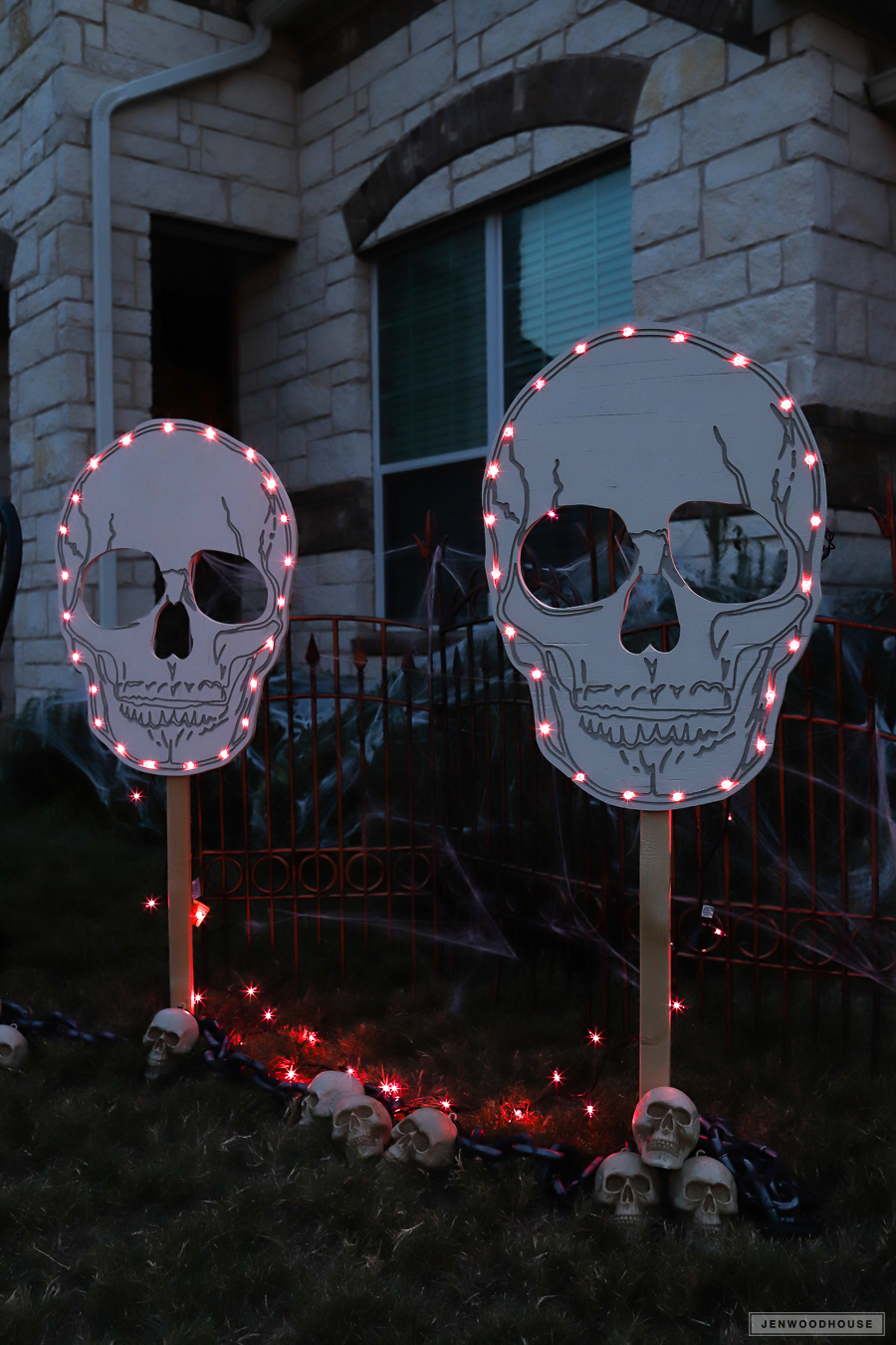 skull yard signs