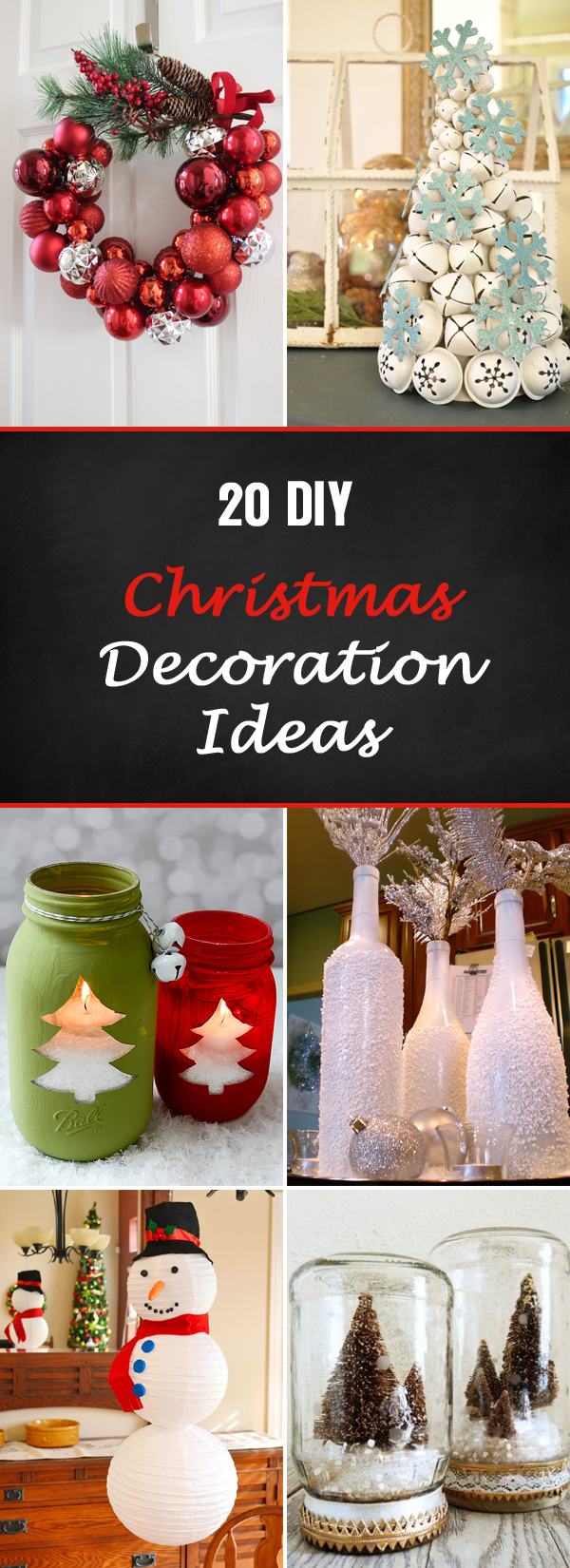 20 Totally Unique DIY Christmas Decoration Ideas