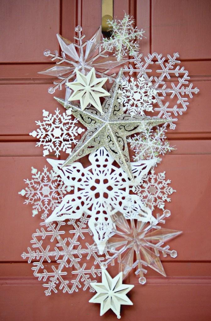 Dollar Store Snowflake Door Hanger