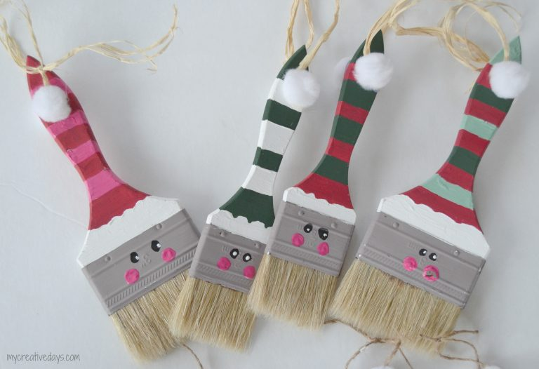 Paint Brush Santas