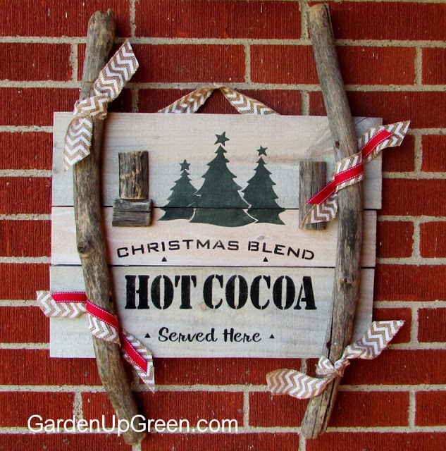 Reclaimed Wood Christmas Sign