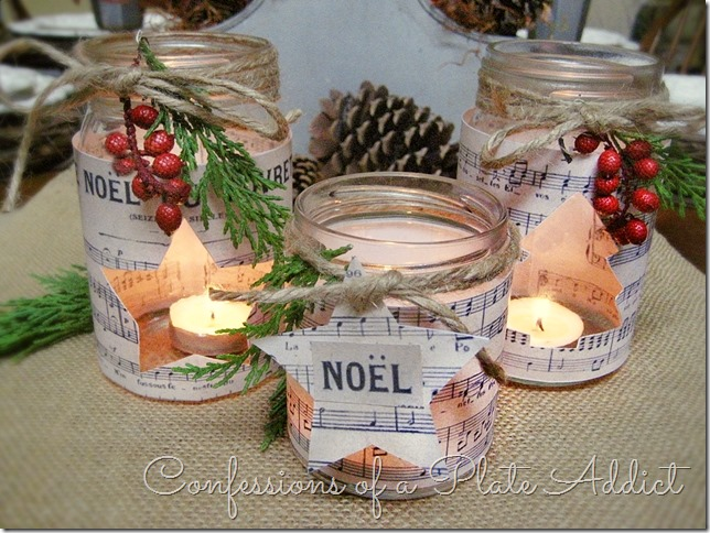 Sheet Music Mason Jar Candles