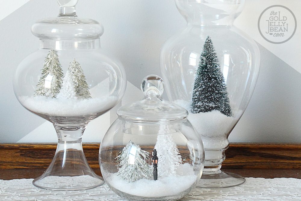 Glass Jar Winter Scenes