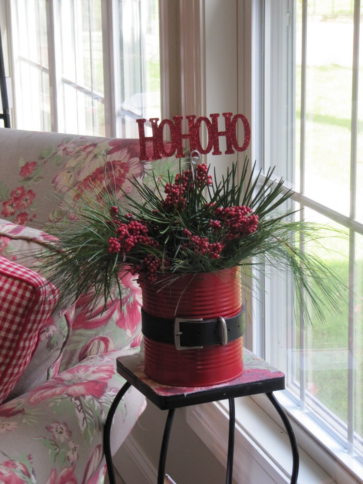 Tin Can Santa Planter