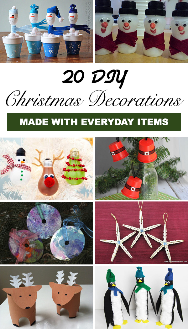 20 DIY Christmas Decorations Made with Everyday Items