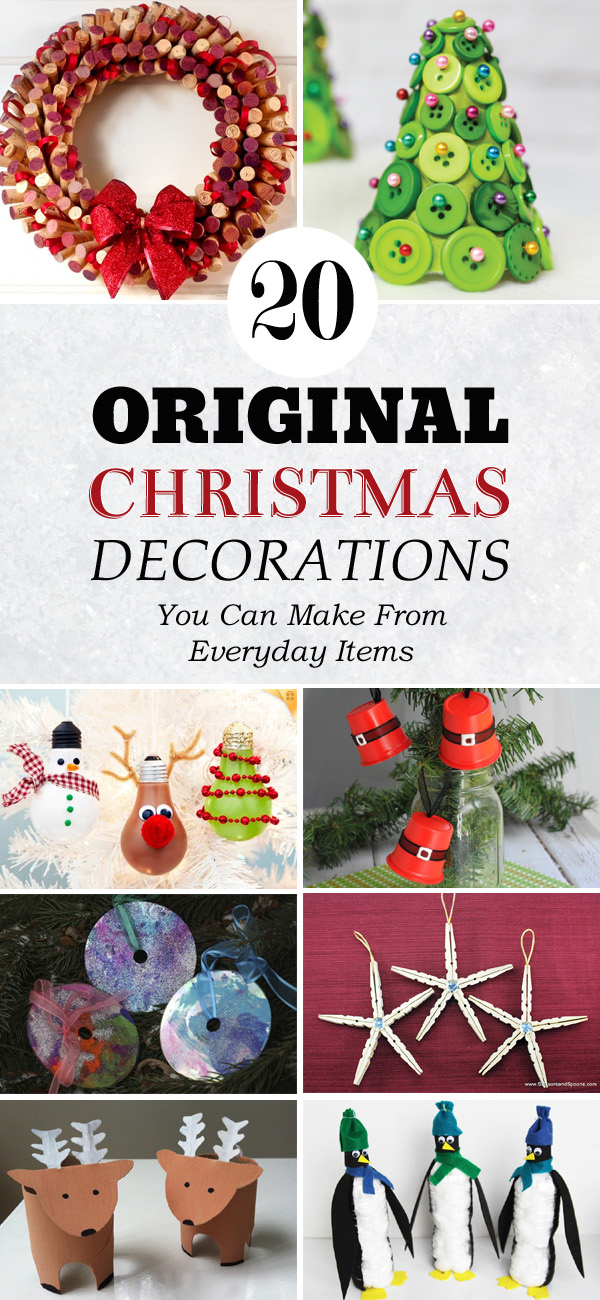 20 Original Christmas Decorations You Can Make From Everyday Items