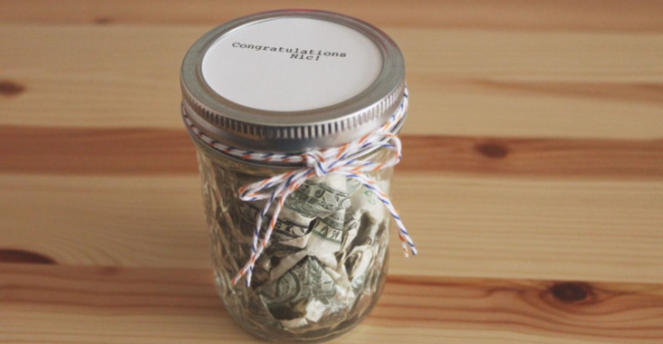 Mason Jar Filled With Money