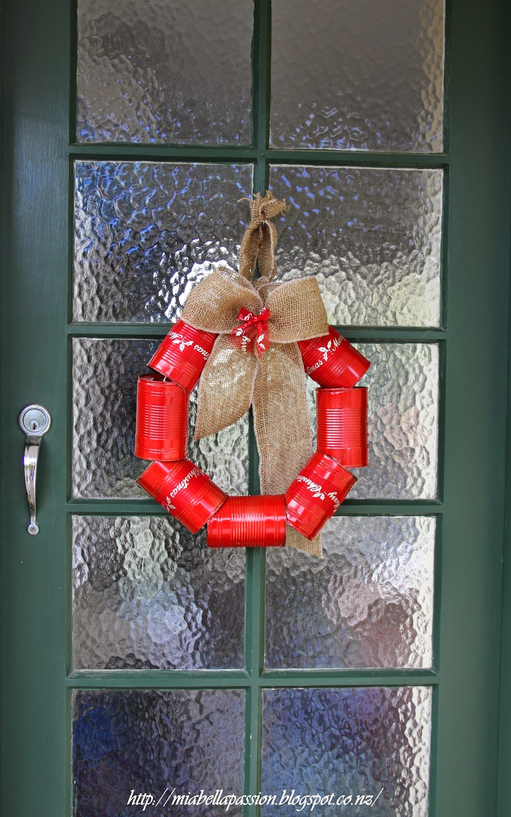 Tin Can Christmas Wreath